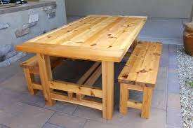 outdoor wood table diy wood plans patio furniture woodworking picnic with regard to wooden outdoor table