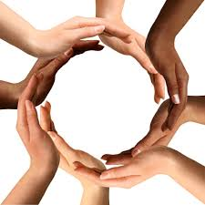leadership diversity a challenge for colorado springs evangelical photo conceptual symbol of multiracial human hands making a circle on white background a
