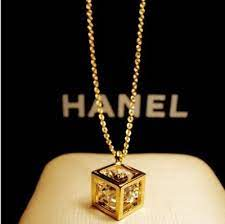 fashion hollow out cube 14k gold gp