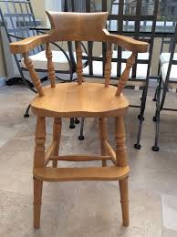 child high chair captains chair in antique pine