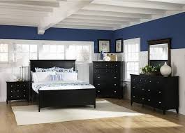 black bedroom furniture wall color. Modern Beach Themed Bedroom Decor With Navy Blue And White Two Tone Wall Color Black Furniture Ideas E