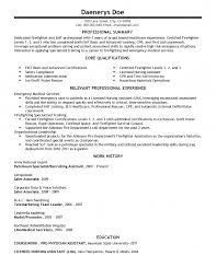 Paramedic Resume Cover Letter Paramedic Resume Objective Examples Summary Firefighter Cover 44