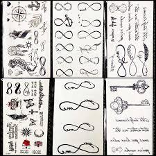 25 стилей черный бесконечное временные татуировки наклейки для