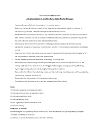Chic Production Assembly Job Resume In Assembly Line Job Description