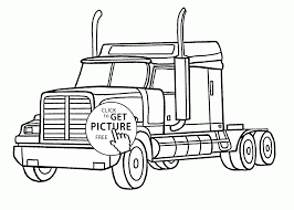 Small Picture Semi Trucks Coloring Pages Within Truck glumme