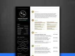 Free Manager Cvresume Template By Andy Khan On Dribbble