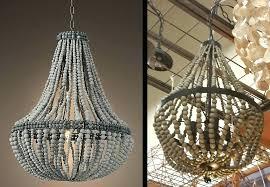 full size of white wood bead flush mount light wooden beaded chandelier design 8 lighting engaging