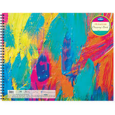 navneet premium drawing book wiro bound 27cm x 35cm 60 pages pack of 2
