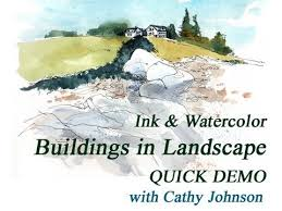 Maine Coast--Buildings in Landscape, with Cathy Johnson - YouTube
