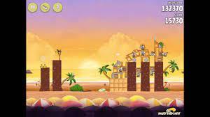 Angry Birds Rio Cherry #1 Walkthrough Golden Beachball Level 1 - YouTube