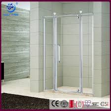 semi frameless alcove shower kit with door 3 wall shower enclosure chrome finish