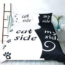 cat comforter set cat side dog side bedding set love pet duvet cover twin full queen size kids girl bedding whole shabby chic bedding bedspread from cat
