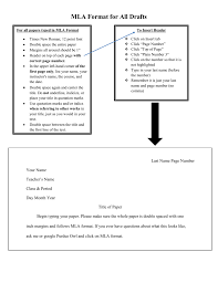 Mla Format Instructions