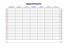 Appointment Calendars Free Printable Appointment Schedule Templates Calendars Template