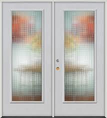 privacy glass full lite fiberglass prehung double door unit