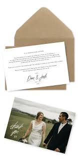 Wedding Thank You Card Wording Examples – For The Love Of Stationery