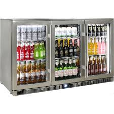 rhino 3 door alfresco outdoor glass door bar fridge model env3h ss