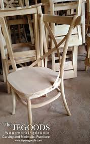 this cross back dining chair is beautifully made of solid teak wood indonesia it can fit in any corner of the room or as mercial use