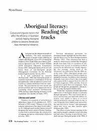 Aboriginal Literacy: Reading the Tracks