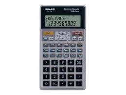 Financial Calculator Sharp El738c 12 Digit Amortization Financial Calculator