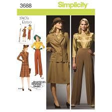 Simplicity Patterns Vintage Custom Simplicity Pattern 48 Misses' Plus Size 48s Vintage Sportswear