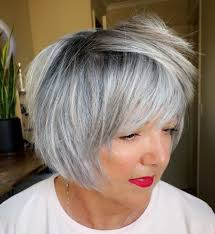 A subtle undercut ensures narrow side parts, length variations on the top and if you want to combine gray hair color with short haircuts the above hairstyle can be a pretty good idea to you. 50 Fabulous Gray Hair Styles Julie Il Salon