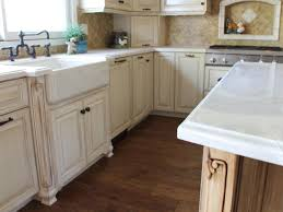 Antique White Cabinetry With Farmhouse Sink Hgtv