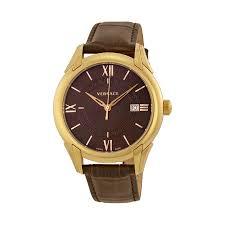 versace watches jomashop versace apollo brown dial leather strap men s watch