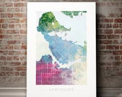 Small Picture Vancouver map Etsy