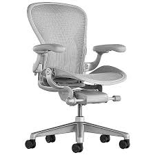 Aeron Office Chair Size C Mineral In 2019 Herman Miller