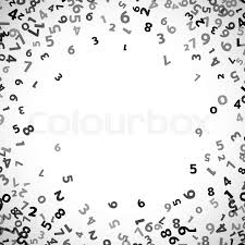Abstract Math Number Background Stock Vector Colourbox
