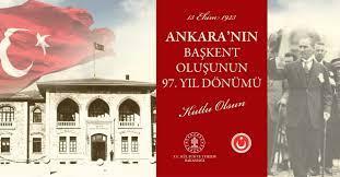 Ankara'nın Başkent Oluşunun 97. Yıl Dönümü Kutlu Olsun. – AYK