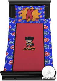 superhero duvet cover set personalized