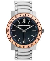 sean john men s silver tone bracelet watch 54x47mm 10018033 in gallery