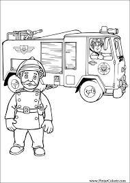 Brandweerman Sam Kleurplaat Firemen Theme Fireman Sam Art