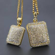 whole 2017 mens hip hop chain fashion jewelry full rhinestone pendant necklaces gold filled hiphop zodiac jewelry men cuban chain necklace dog