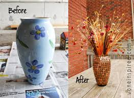 How to Decorate a Vase with Pennies