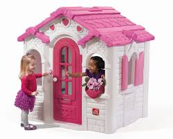 step2 pink and white outdoor playhouse