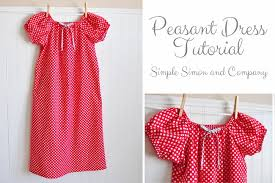 Peasant Dress Pattern Awesome A Peasant Dress Tutorial Simple Simon And Company