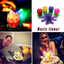 <b>Lotus music</b> candle <b>Music</b> Candle <b>Double</b> Flower BlossomS ...
