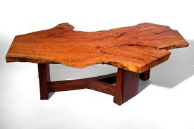 custom made live edge beech slab coffee table