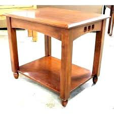 amish mission side table style coffee light oak tables bedside round s
