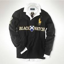men s classic fit big pony rugby in black polo ralph lauren ralph