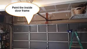 garage door inside. It Is Best To Work Out From The Edge Of Garage Door. Begin At Upper Corner Door Trim And Paint Where Wall Inside