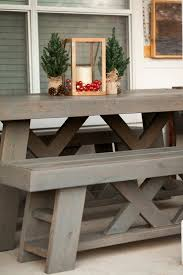 Shanty 2 Chic Coffee Table Diy Outdoor Patio Table Benches Shanty 2 Chic