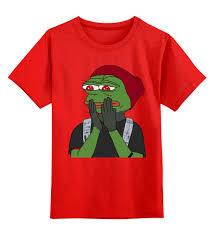 Детская футболка классическая унисекс <b>Лягушонок Пепе</b> #2336199