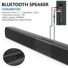 20W Bluetooth Speaker Subwoofer Home Theater Soundbar Super Bass Portable  Wireless Remote Control Computer TV Speakers Mic FM|Portable Speakers