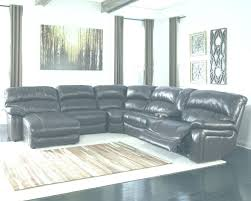Living Room Decor Sectional Furniture With Black Leather Chaise Sofa