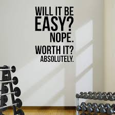 Worth It Gym Motivational Wall Decal Quote Running Fitness Health