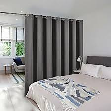 Room Divider Curtain Screen Partitions - NICETOWN Thermal Insulated  Blackout Patio Door Curtain Panel, Sliding